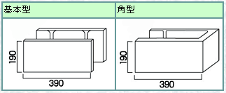 組積工事(コンクリートブロック)の型枠ブロック